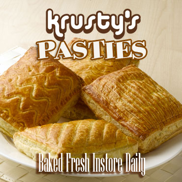 Krustys Pasties Baked Instore Fresh Daily